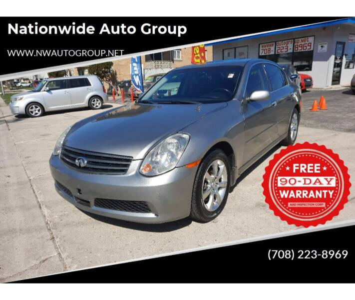 2006 Infiniti G35 for sale at Nationwide Auto Group in Melrose Park IL
