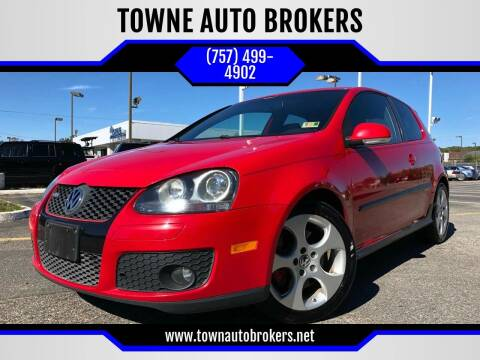 2008 Volkswagen GTI for sale at TOWNE AUTO BROKERS in Virginia Beach VA