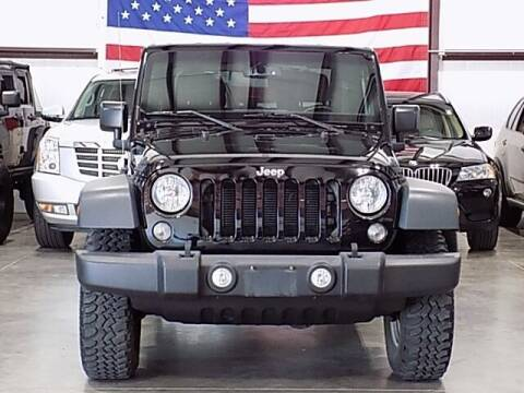 2016 Jeep Wrangler for sale at Texas Motor Sport in Houston TX