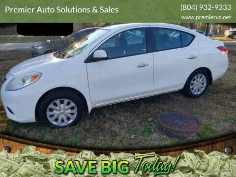 2012 Nissan Versa for sale at Premier Auto Solutions & Sales in Quinton VA