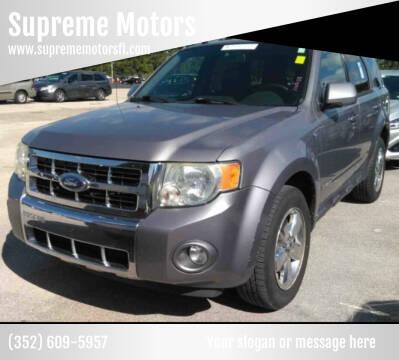 2008 Ford Escape for sale at Supreme Motors in Tavares FL