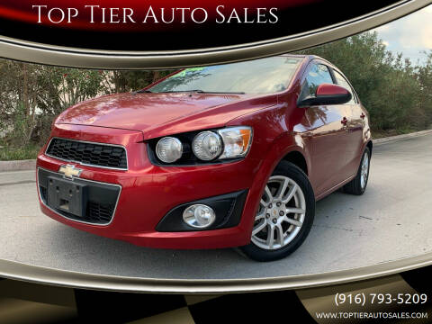 2012 Chevrolet Sonic for sale at Top Tier Auto Sales in Sacramento CA