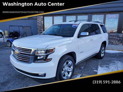 2015 Chevrolet Tahoe for sale at Washington Auto Center in Washington IA