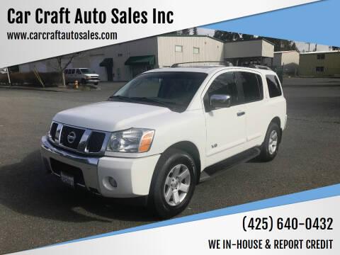 2007 Nissan Armada for sale at Car Craft Auto Sales Inc in Lynnwood WA