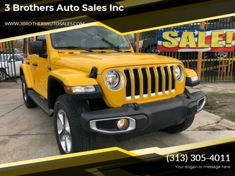 2019 Jeep Wrangler Unlimited for sale at 3 Brothers Auto Sales Inc in Detroit MI