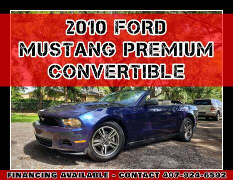 2010 Ford Mustang for sale at AFFORDABLE ONE LLC in Orlando FL