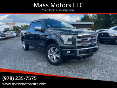 2015 Ford F-150 for sale at Mass Motors LLC in Worcester MA