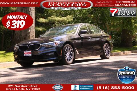 2018 BMW 5 Series for sale at European Masters in Great Neck NY