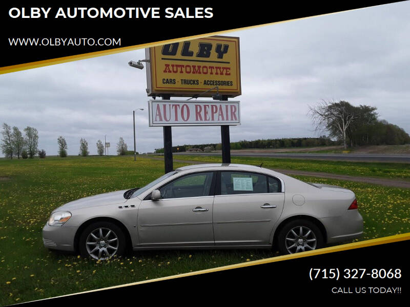 2007 Buick Lucerne for sale at OLBY AUTOMOTIVE SALES in Frederic WI