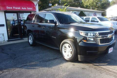 2015 Chevrolet Tahoe for sale at Dave Franek Automotive in Wantage NJ
