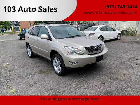 2008 Lexus RX 350 for sale at 103 Auto Sales in Bloomfield NJ