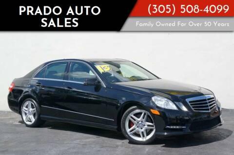 2013 Mercedes-Benz E-Class for sale at Prado Auto Sales in Miami FL