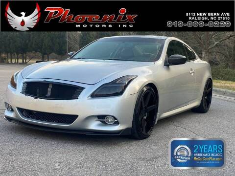 2013 Infiniti G37 Coupe for sale at Phoenix Motors Inc in Raleigh NC