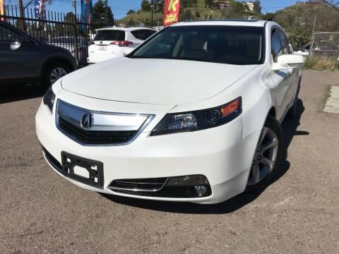 2013 Acura TL for sale at Vtek Motorsports in El Cajon CA