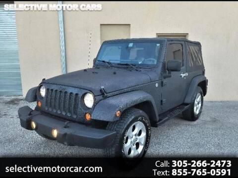 2007 Jeep Wrangler for sale at Selective Motor Cars in Miami FL