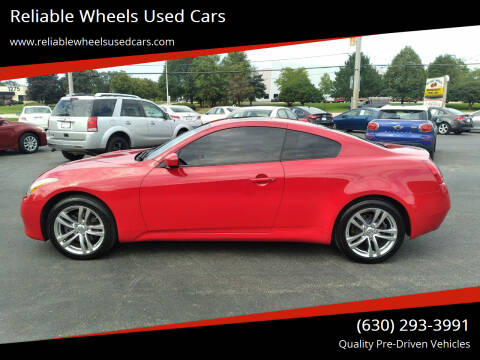 2009 Infiniti G37 Coupe for sale at Reliable Wheels Used Cars in West Chicago IL