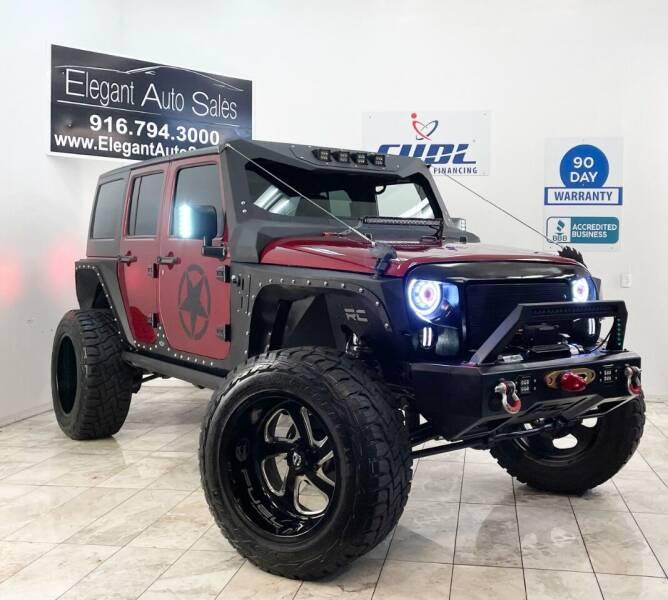 2012 Jeep Wrangler Unlimited for sale at Elegant Auto Sales in Rancho Cordova CA