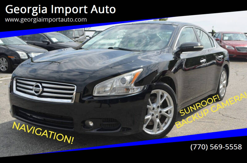 2012 Nissan Maxima for sale at Georgia Import Auto in Alpharetta GA