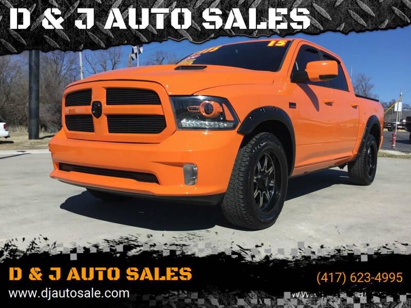 2015 RAM Ram Pickup 1500 for sale at D & J AUTO SALES in Joplin MO