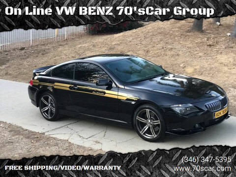 2005 BMW 6 Series for sale at On Line VW BENZ 70'sCar Group in Warehouse CA