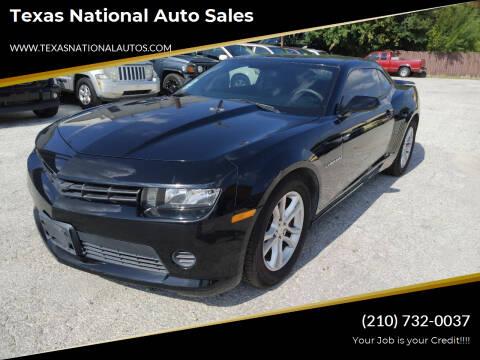 2015 Chevrolet Camaro for sale at Texas National Auto Sales in San Antonio TX