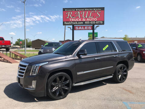 2015 Cadillac Escalade for sale at RAUL'S TRUCK & AUTO SALES, INC in Oklahoma City OK