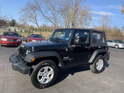2015 Jeep Wrangler for sale at Premiere Auto Sales in Washington PA