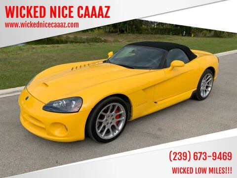 2005 Dodge Viper for sale at WICKED NICE CAAAZ in Cape Coral FL