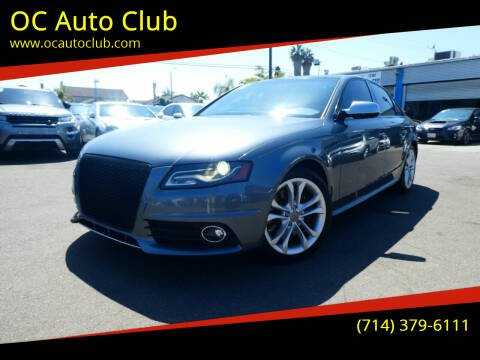 2012 Audi S4 for sale at OC Auto Club in Midway City CA