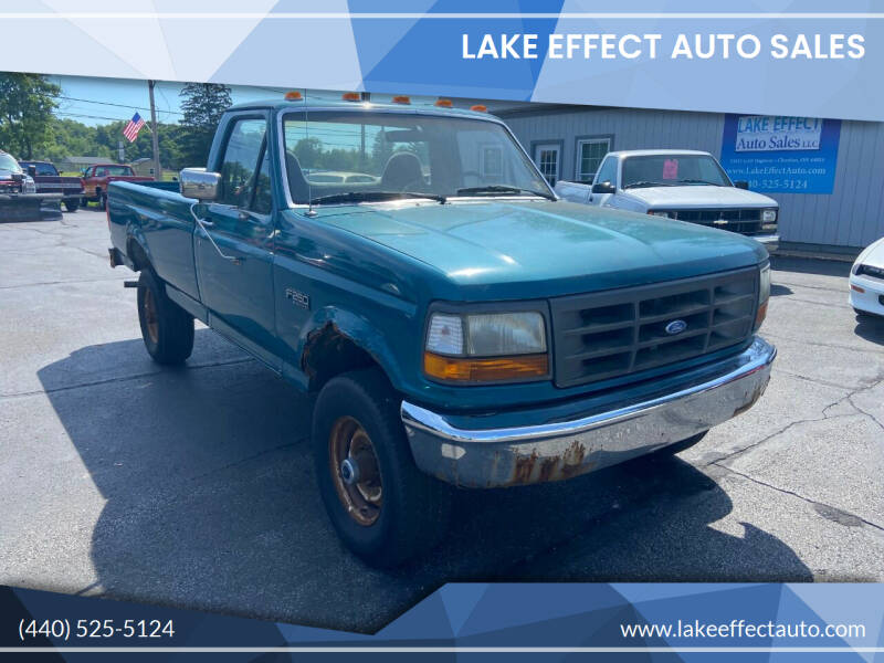 1995 Ford F-250 for sale at Lake Effect Auto Sales in Chardon OH