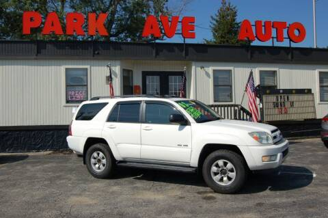 2003 Toyota 4Runner for sale at Park Ave Auto Inc. in Worcester MA