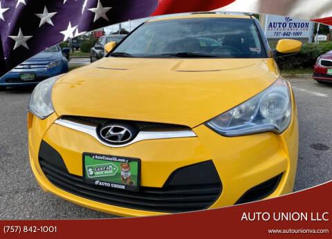 2012 Hyundai Veloster for sale at Auto Union LLC in Virginia Beach VA
