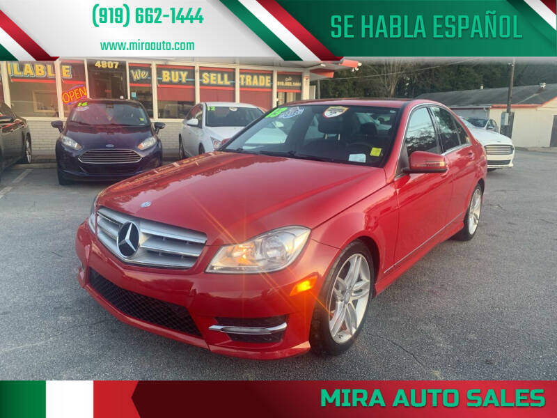 2013 Mercedes-Benz C-Class for sale at Mira Auto Sales in Raleigh NC