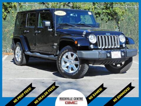 2017 Jeep Wrangler Unlimited for sale at Rockville Centre GMC in Rockville Centre NY