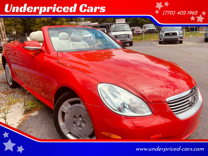 2003 Lexus SC 430 for sale at Underpriced Cars in Marietta GA
