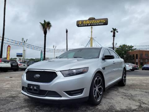 2015 Ford Taurus for sale at A MOTORS SALES AND FINANCE - 10110 West Loop 1604 N in San Antonio TX