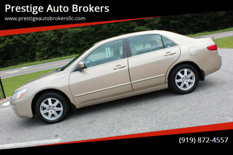 2005 Honda Accord for sale at Prestige Auto Brokers in Raleigh NC