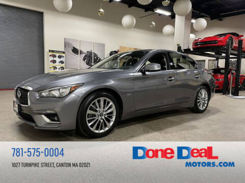 2018 Infiniti Q50 for sale at DONE DEAL MOTORS in Canton MA