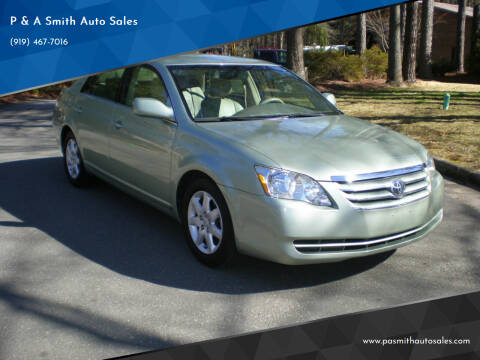 2005 Toyota Avalon for sale at P & A Smith Auto Sales in Cary NC