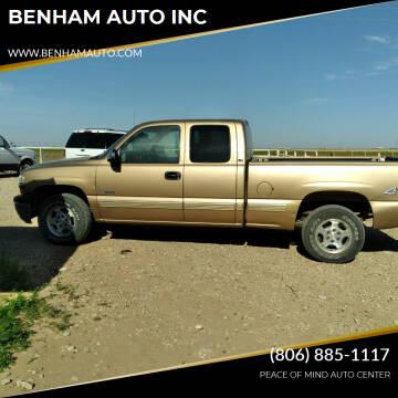 2001 Chevrolet Silverado 1500 for sale at BENHAM AUTO INC in Lubbock TX