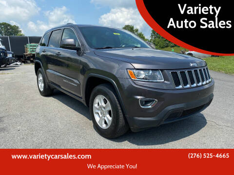 2015 Jeep Grand Cherokee for sale at Variety Auto Sales in Abingdon VA