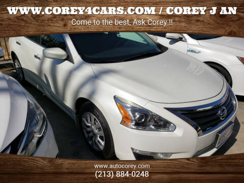 2014 Nissan Altima for sale at WWW.COREY4CARS.COM / COREY J AN in Los Angeles CA