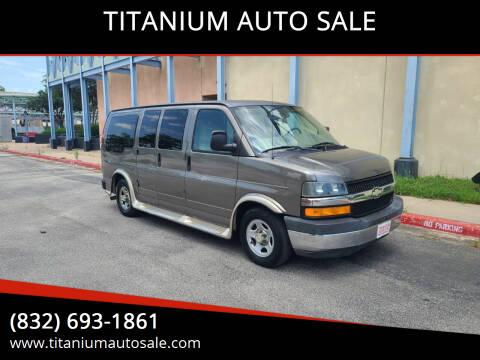 2004 Chevrolet Express Cargo for sale at TITANIUM AUTO SALE in Houston TX