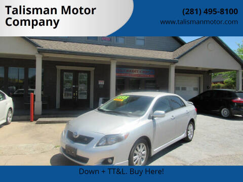 2009 Toyota Corolla for sale at Don Jacobson Automobiles in Houston TX
