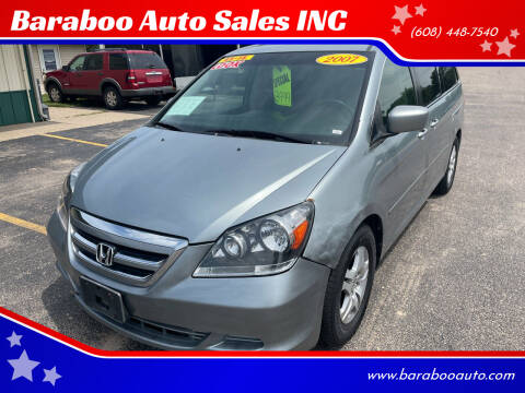 2007 Honda Odyssey for sale at Baraboo Auto Sales INC in Baraboo WI