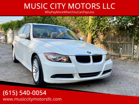 2007 BMW 3 Series for sale at MUSIC CITY MOTORS LLC in Nashville TN