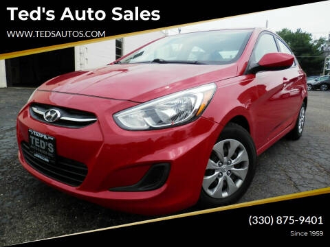 2017 Hyundai Accent for sale at Ted's Auto Sales in Louisville OH