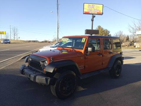 2011 Jeep Wrangler Unlimited for sale at Family Auto Sales of Johnson City in Johnson City TN