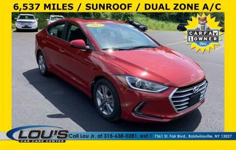 2017 Hyundai Elantra for sale at LOU'S CAR CARE CENTER in Baldwinsville NY
