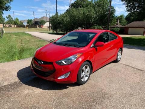 2013 Hyundai Elantra Coupe for sale at CARWIN MOTORS in Katy TX